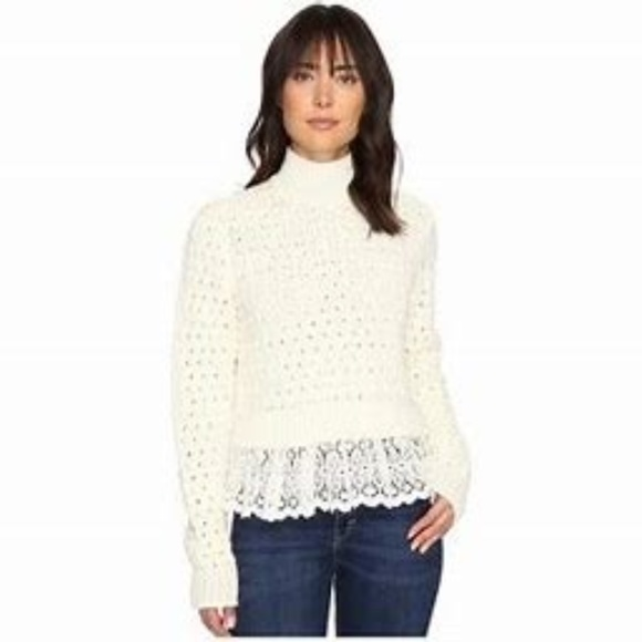 Rebecca Taylor Rib-Knit Long Sleeve Sweater w/ Tags Outlet Marketable Y7aLSy